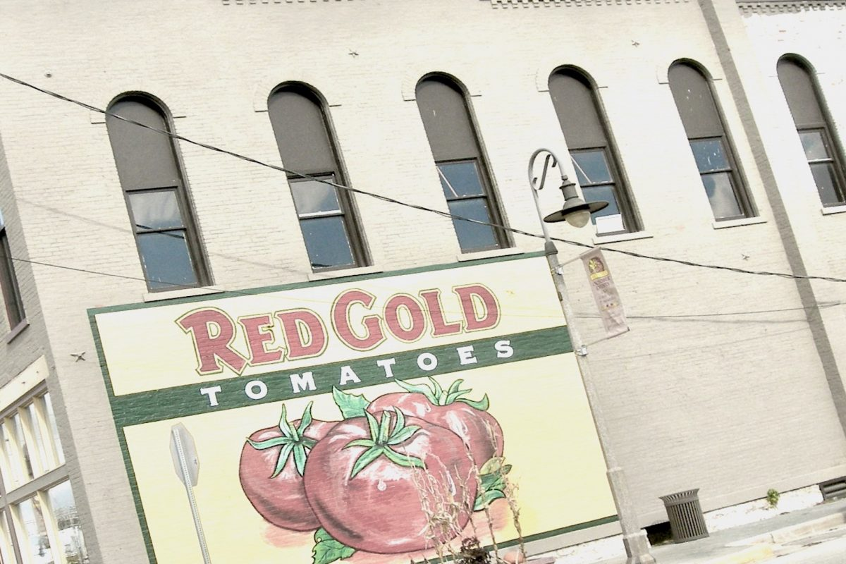 Red Gold brand wall
