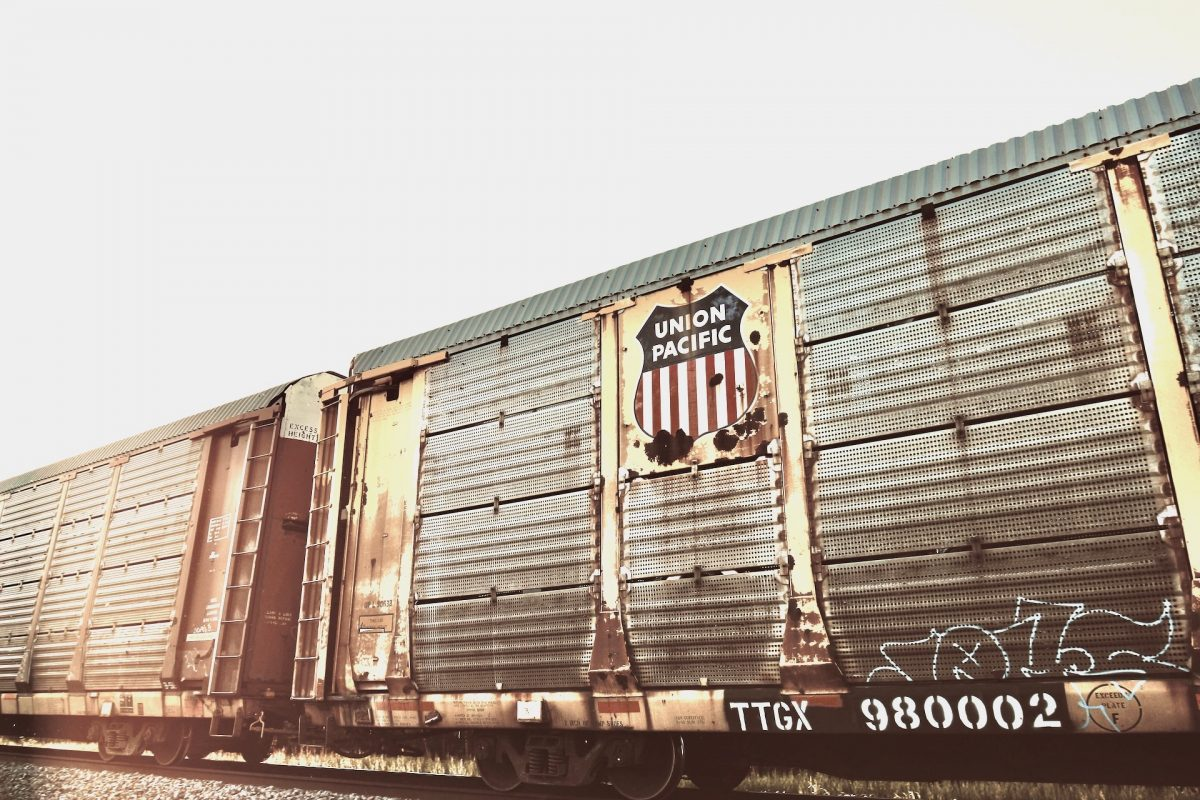 Union Pacific brand wall