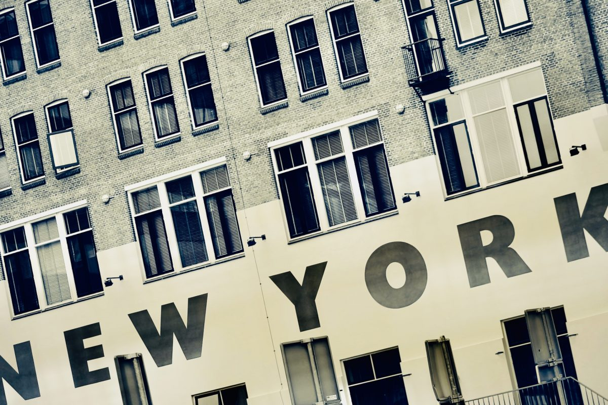 Old New York brand sign